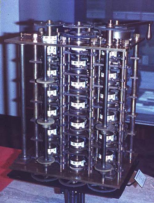 دستگاه محاسبه گر ماشین تفاضل (Difference Engine)