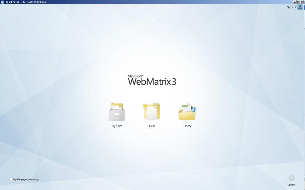 صفحه ابتدایی وب ماتریکس 3