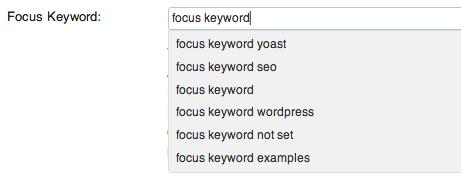 پیشنهادات گوگل در افزونه وردپرس سئو