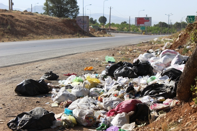 رها کردن زباله ها در کنار جاده ها