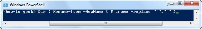 تغییر نام فایل ها بصورت گروهی با PowerShell - تصویر دو - دستور تغییرنام