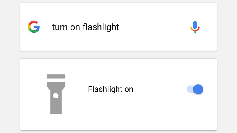 """از حالا در گوگل ناو، با دو فرمان صوتی """"turn the flashlight on"""" و """"turn the flashlight off"""" می توانید کنترل چراغ قوه موبایلتان را در دست بگیرید."""