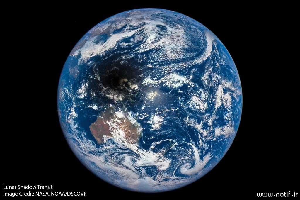 Lunar Shadow Transit  Image Credit: NASA, NOAA/DSCOVR