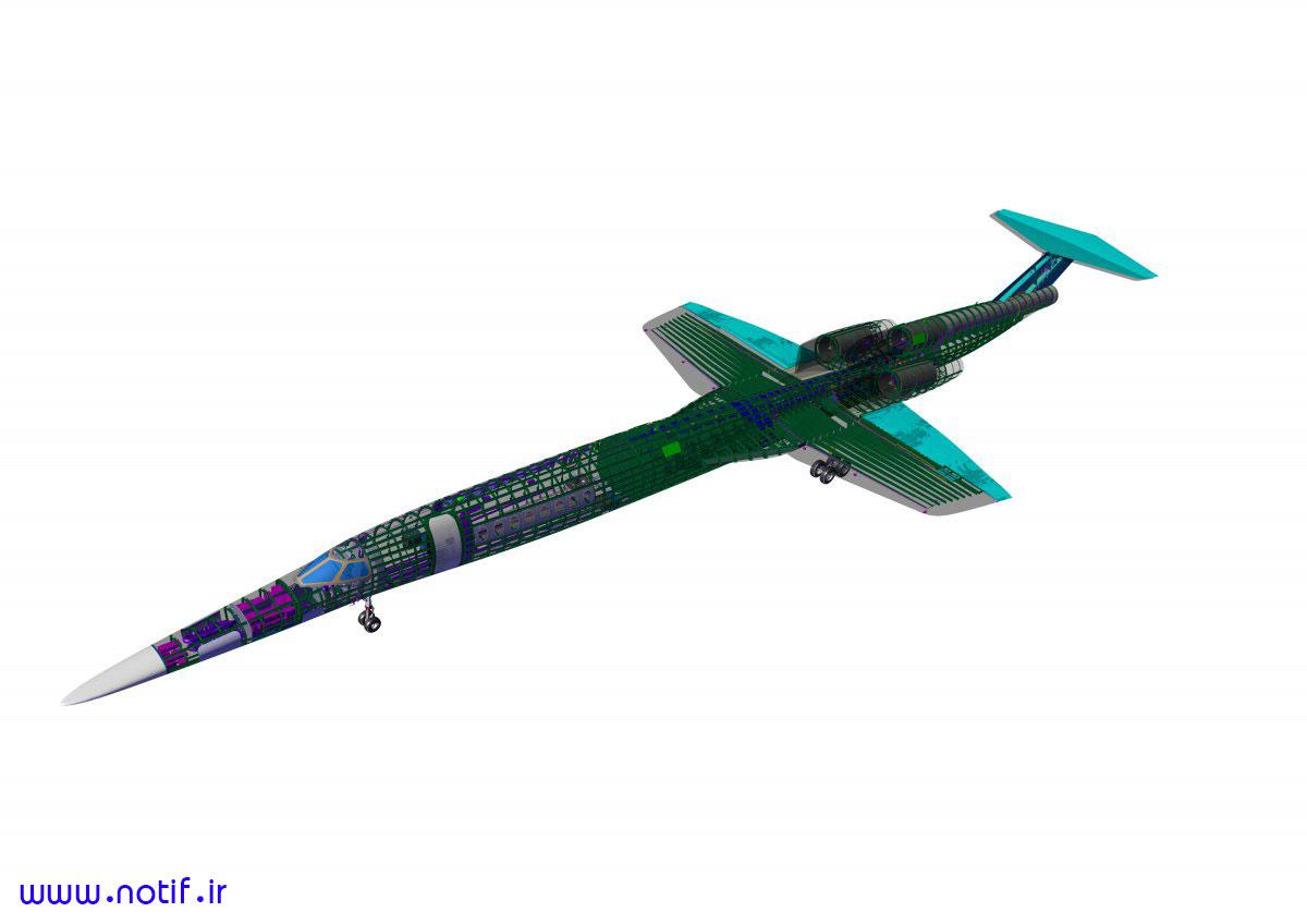 نمایی 3 بعدی از هواپیمای AS2