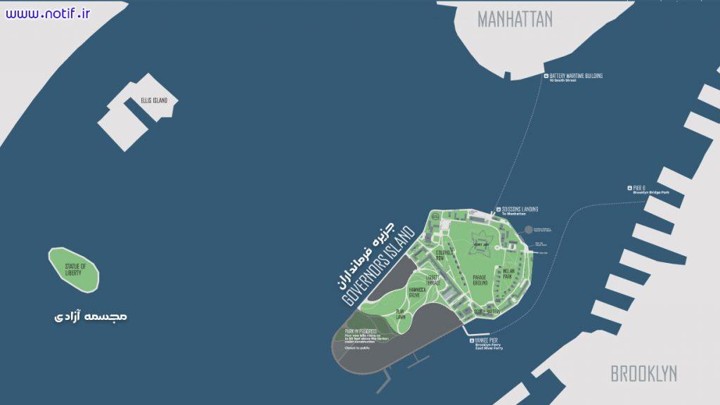نقشه جزیره فرمانداران نیویورک